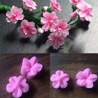 Silicone Plum Blossom Fondant Mould Cake Toppers Fimo Sugarcraft Mold Decorat