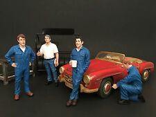 MECHANICS 4PC FIGURE SET 1:18 MODEL BY AMERICAN DIORAMA 77443,77444,77445,77446