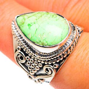 Lemon Chrysoprase 925 Sterling Silver Ring Size 7.5 Ana Co Jewelry R80278F