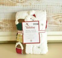 NEW Pottery Barn Kids MERRY SANTA Quilt-ed Euro Sham Christmas Holiday NWT