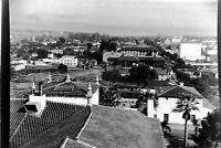 Vintage 1939 Old Photo Neg. Bird's Eye View of SANTA MONICA California Buildings
