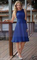 Formal Chiffon Knee Length Wedding Prom Ball Evening Bridesmaid Dress Size 6--18