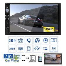 7'' 2 Din Car MP5 Player Bluetooth Touch Screen Stereo Radio Mirror Link USA