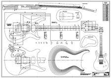 PRS Custom 24 Zeichnung M1:1 - f. Tonholz wie bei Paul Reed Smith Gibson Fender