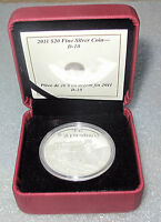 2011 Canada Silver $20 Dollars Transportation  D-10 Locomotive Train Proof