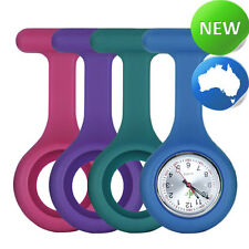 Nurses Silicone FOB Watch & 4 Band Pack - Rose Pink | Teal | Purple | Blue
