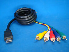 usa seller. HDMI TO 5-RCA MONITOR ADAPTER CABLE COMPUTER TV VIDEO RGB COMPONENT
