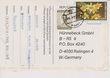 THAILAND Airmail Postcard to Germany