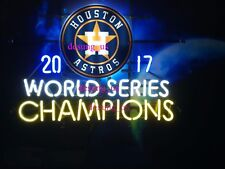 "Houston Astros World Series Champs Neon Light Sign 24""x20"" HD Vivid Printing"