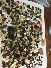 Vintage Old Button Lot Sewing Craft Collection Antique Part Two