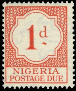"""NIGERIA J1 (SG D1) - Numeral of Value """"Postage Due"""" (pf75069)"""