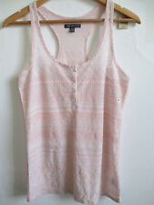 AMERICAN EAGLE OUTFITTERS pink tank cami top size M MEDIUM metallic thread scoop