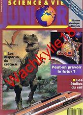 Science et vie junior n°32 du 12/1991 Dinosaures Banyuls Rail Chouettes