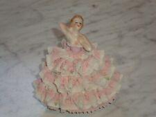 New listing Irish Dresden Pretty Lady Figurine