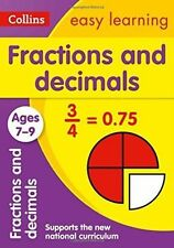 Collins Easy Learning Age 7-11 — Fractions and Decimals Ages 7-9: New-ExLibrary