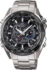 Casio EQS-500DB-1A1, Edifice Solar Powered, World Time, Chronograph Men's Watch