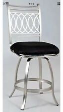 Chin-Juliacs-Chintaly Imports Memory Return Swivel Counter Stool, Brushed Black=