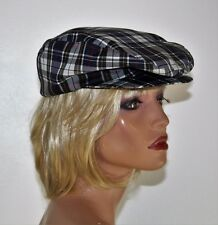 """Vintage 70's Men's Shade Shack Plaid Cap Hat - Made in USA - Size M/L - 23"""""""