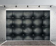 5x3FT Black Leather Sofa Background Studio Photography Photo Props Backdrop