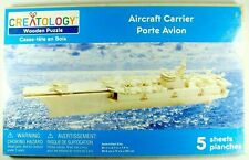 Creatology AIRCRAFT CARRIER Build It Yourself Wood Kit SEALED 3D Brand New