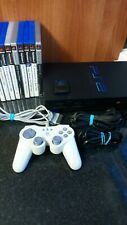 Sony PlayStation 2 Black Console Bundle (SCPH-50003) with 9 games