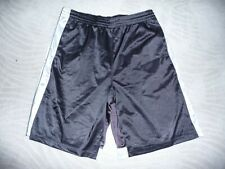 Athletech ~L/G~ Adult,Mesh Athletic Shorts,Polyester,Black/wi th Strips Nwot
