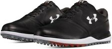 Under Armour SL Size 12,  Leather Golf Spikeless Shoes Black 3019880-001 NEW