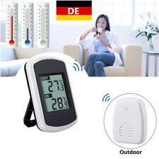 LCD Wireless Digital Temperatur Station Thermometer Innen & Außen-Wetter DE