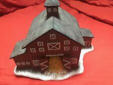 "First Edition 1996 of "" Mitchell Barn ""by Linda Nelson Stocks -Folk Art Villages"