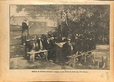 Religieuse Ecole Catholique libre Classe de Plein Air Lorraine 1920 ILLUSTRATION