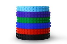 Block Tape for Lego Building Tapes Legos w/ 3M Adhesive Purple Blue Green 1ct