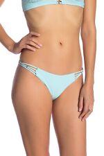 NWT $72 PilyQ Braided Teeny Bikini Bottom Cabana Blue [ SZ Small ] #1814