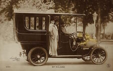 On The Road With French Actress Gabrielle Rejane (Vintage Real Photo Postcard)