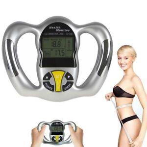 Portable Digital LCD Body Fat Measuring Instrument Body BMI Fat Analysis Monitor