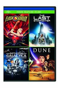Flash Gordon /The Last Starfighter/Battlestar Galactica/Dune DVD 4 Feature Films