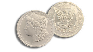 New 1 oz .999 Fine Morgan Silver Round - Private Mint Morgan Dollar