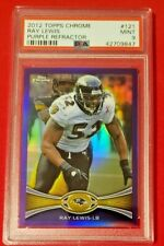 Ray Lewis 2012 TOPPS Chrome Purple Refractor SP /499 PSA 9 MINT HOF Ravens! POP1