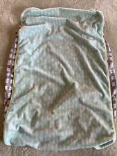 Oh Joy! Unisex Gray White Teal Fleece Fitted Diaper Changing Pad Cover