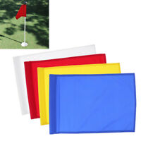 4Pcs Golf Hole Pole Cup Flag Putting Green Backyard Practice Training Aids