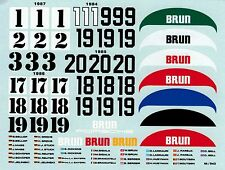 Brun Porsche 956 961 Zusatz Decal 1984 1987 1:24 Decal