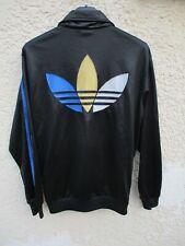 Veste ADIDAS CHILE 62 trefoil tricolore giacca jacket noir rétro vintage S