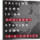 ARTCANVAS Staying Down Is A Choice Motivational Canvas Art Print