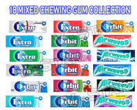 WRIGLEY'S AIRWAVES, ORBIT, EXTRA CHEWING GUM 18 MIXED PACKETS COLLECTION