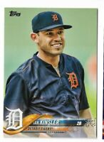 2018 Topps series 1 baseball #330 Ian Kinsler Short Print SP Detroit Tigers