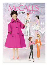 "McCall's Sewing Pattern Retro-Style Clothes For 11½"" Doll -M7301-OSZ"