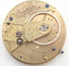 Fusee Pocket Watch Movement Parts Antique Henry Parry Liverpool Key Wind