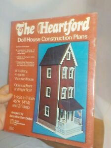 Dollhouse Construction Plans 1:12 Jacqueline Deiber Full Instructions 4 Story