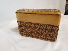 Balinese? Java Teak Wooden Cigarette Case, Cigarette Box ca. 1960s