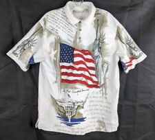 American Summer Clothing Company Star Spangled Banner Men's Polo Size XL