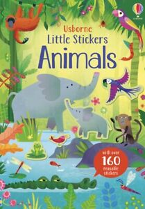 Usborne LIttle Sticker Book Animals (Paperback)  FREE shipping $35